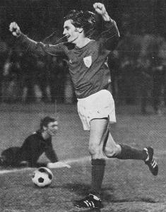 Michel Prost, buteur lors de la première victoire du PSG en première division à Nancy (3-2) le 25 août 1971