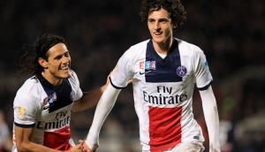 Cavani et Rabiot, héros de la dernière victoire du PSG face à Bordeaux