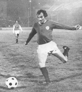 Horlaville contre Reims lors des premiers PSG-Reims en 1971-1972