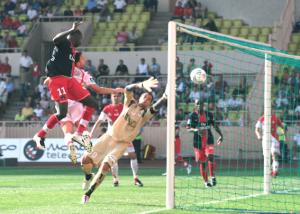 Amara Diané, buteur contre Monaco en 2007