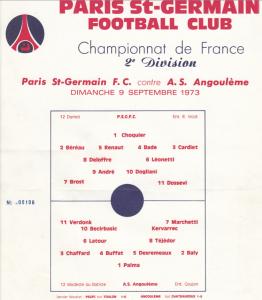 Le programme du match