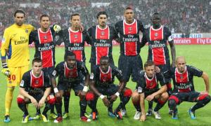Le premier onze du PSG QSI en L1 face à Lorient en 2011
