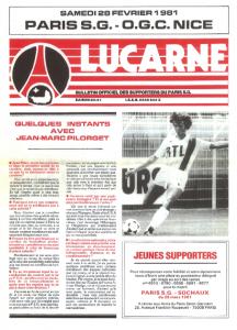 Jean-Marc Pilorget à la une de PSG-Nice