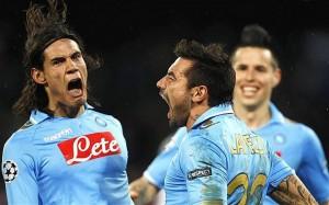 La joie impressionnante de Cavani et Lavezzi lors du match face à Chelsea