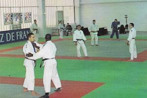 Le PSG Judo à l'entraînement à l'Aquaboulevard