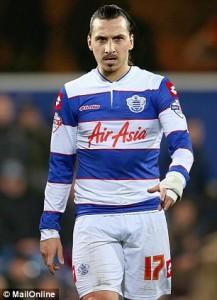 le fantasme des Anglais : Ibrahimovic sous le maillot de QPR (montage : Daily Mail)