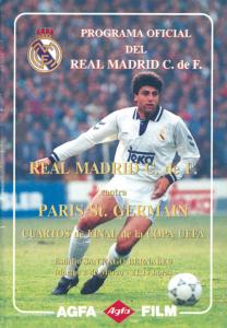 le programme du premier Real Madrid-PSG en 1993