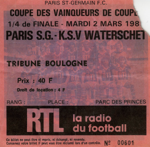PSG - Waterschei, 2 mars 1983 : 49.575 spectateurs...