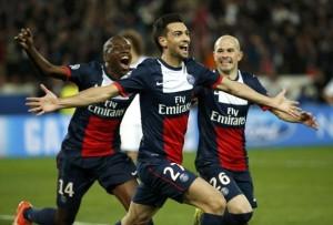 La joie de Javier Pastore face à Chelsea