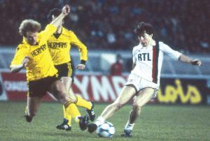 Le 1er 1/4 de finale européen du PSG face aux Belges de Waterschei en 1983