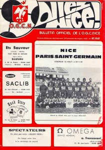 le programme du match (collection : la memoire du psg)