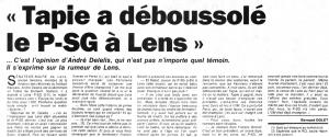 L'avis - très personnel - du Maire de Lens après la rencontre