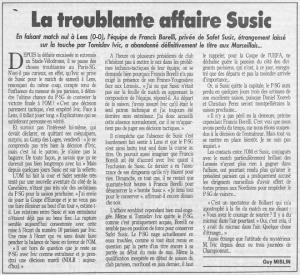 """troublante affaire à l aune dans """"France Football"""""""