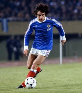 Rocheteau, top buteur pour le PSG sous le maillot bleu