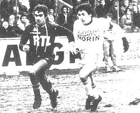 François Brisson contre Angers dans les années 1970