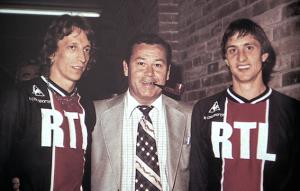 Cruyff (à droite) avec Fontaine et Dogliani