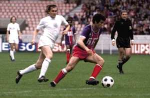 Dahleb en action face à Ferencvaros