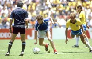Luis Fernandez, héros de France-Brésil au Mexique en 1986