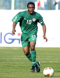 Okocha, capitaine du Nigéria