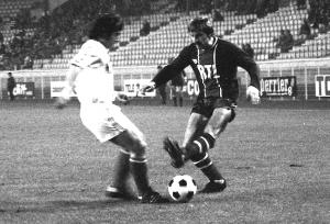 Porquet en duel face à un Nîmois en 1978