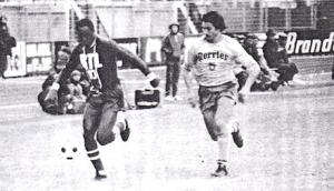 M'Pelé en action à Narbonne face à Toulon