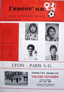 le programme du match (collection La mémoire du PSG)