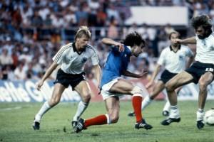 Rocheteau face aux Allemands en 1982