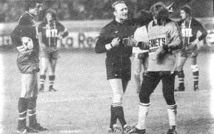 Abel et Hiard avant le penalty parisien