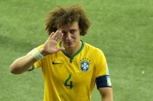 les larmes de David Luiz après la déroute du Brésil