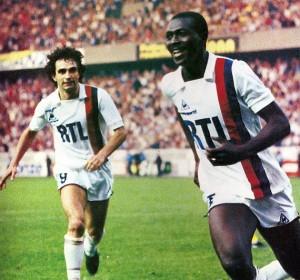 la joie de Toko face à Nantes en 1983