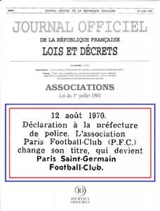 le Journal Officiel du 27 août 1970