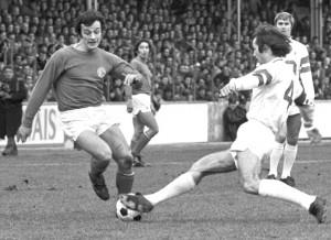 Jean-Claude Bras face à Nancy, lors du match retour à Saint-Ouen