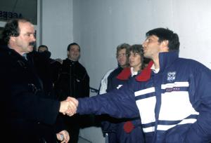 Fournier face  Artur Jorge en 1998 : l'élève va dépasser le maitre (victoire 2-0 des Corses)