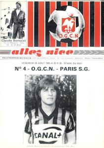 le programme du match à Nice