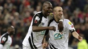 Sankharé (avec Mathis) vainqueur de la Coupe de France 2014 avec Guingamp