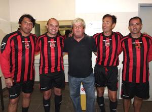 les anciens du PSG en force : Laurent Fournier, Vincent Guérin, Jean-Michel Moutier, Stéphane Persol et Jimmy Algerino.