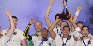 la joie des handballeurs après la victoire au Trophée des champions