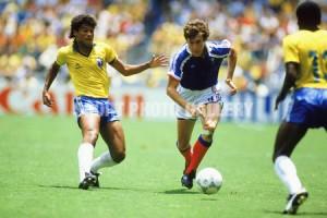 Luis Fernandez face au Brésil en 1986