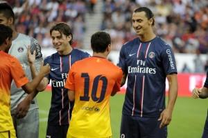 les retrouvailles entre Messi et Ibrahimovic