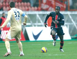 Diané, double buteur lors du dernier succès parisien au Parc face à Monaco (4-2), le 10 février 2007