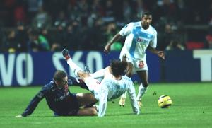 """les """"retrouvailles"""" entre Sylvain Armand et Fabrice Fiorèse lors d'un PSG-OM"""
