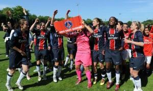 la joie des Parisiennes après la dernière victoire contre Montpellier
