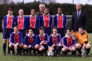 l'équipe du PSG pour la saison 2000-2001