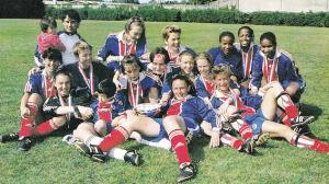 la joie des Parisiennes, championnes de France en division 2