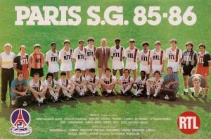 le PSG champion en 1985-1986