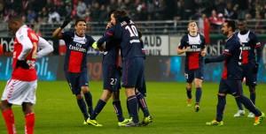 la joie des Parisiens à Reims la saison dernière pour égaler le record. Paris sera battu par la suite à Annecy par Evian TG (0-2)