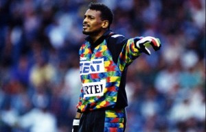 la belle performance pour la défense du PSG et Lama en 1993-1994