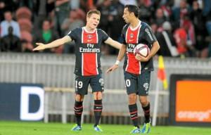 les mots doux entre Gameiro et Nice avant les penaltys contre Nice en 2011...