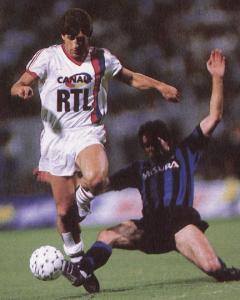 Safet Susic face à l'Inter en 1987