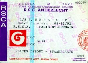 le ticket du match
